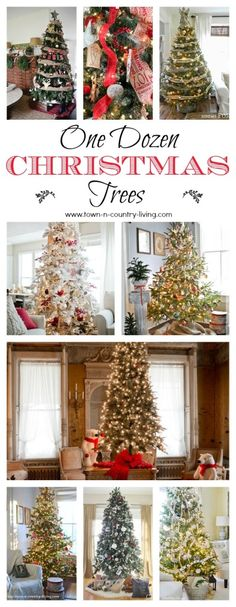 One Dozen Christmas Tree Examples from Town-n-Country Living