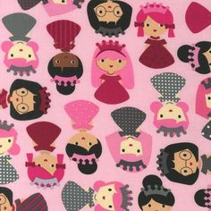 Girlfriends Princess quilt or craft fabric by Ann by fabricshoppe, $10.50