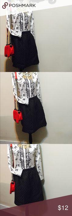 Sugar lips black skirt sz 8 Beautiful polka dots skirt. Will fit a sz 8 women. sugar lips Skirts Midi