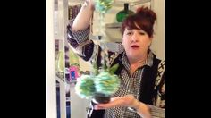 Jennifer Perkins demonstrates how to use Glaze and Souffle dimensional inks and Permapaque markers to decorate a Boho glass air plant terrarium.