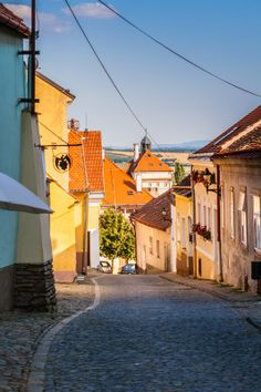Old Town streets of Znojmo, Czech Republic European Countries, Far Away, Czech Republic, Prague, Old Town, Mansions, Country, Street, House Styles