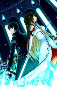 Asuna Kirito Sao Sword art online