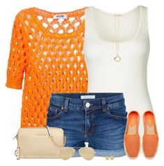 """""""Orange Espadrilles"""" by amber-1991 ❤ liked on Polyvore featuring Moschino Cheap & Chic, American Vintage, Pierre Balmain, Rebecca Minkoff, MICHAEL Michael Kors, Dinny Hall, Michael Kors, Roxy, Ray-Ban and women's clothing"""