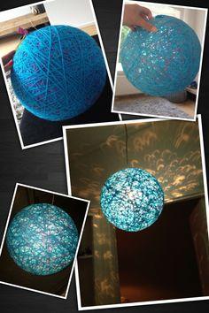 DIY Hanglamp van wol