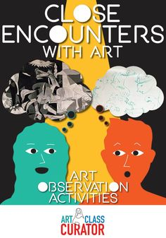 Close Encounters with Art - Art Observation Activities - Creative and engaging art observation activities that will help students connect with and remember works of art long after class ends. Proportion Art, Art Critique, Kandinsky Art, Art Criticism, Scale Art, Art Lessons For Kids, Middle School Art, Art Classroom, Classroom Organization