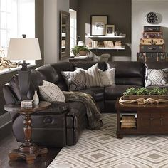 Mixing fabric and leather furniture creates great for Affordable furniture grants pass