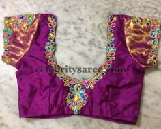 Peacock Design Simple Blouses - Saree Blouse Patterns