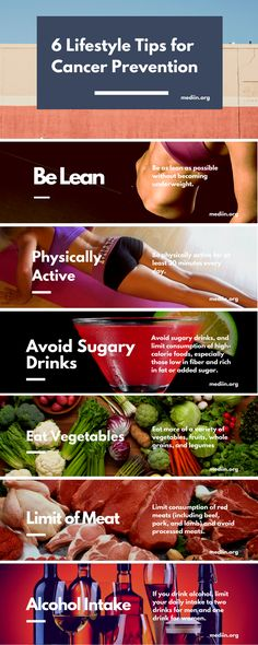 6 Lifestyle Tips for #CANCER #Prevention. #HealthCare #Mediin #Infographics
