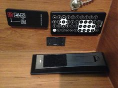 Use Velcro to store your remotes in a convenient location within your RV.