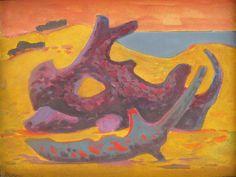 "Norberto Berdía ""La esfinge II"" Óleo sobre tela  30 X 40 cms. Circa 1978  http://www.portondesanpedro.com/ver-producto.php?id=10784"
