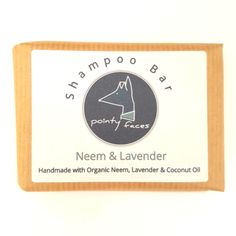 Pointy Faces Organic Neem & Lavender Shampoo Bar - Pointy Faces Hound Shampoo Bar is handmade using certified organic ingredients including organic neem oil, organic lavender essential oil, organic Aloe Vera & organic coconut oil. The ingredients have been specially selected to leave your hounds skin and coat healthy and happy. Pointy Faces Shampoo Bar is free of nasties and is gently cleansing so that it does not strip the coat and skin of moisture and important oils.