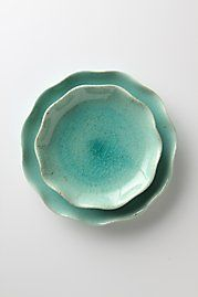 """Lotus"" dinnerware by Anthropologie (love the color)"