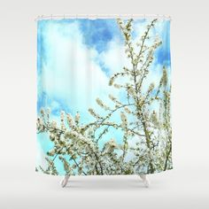 Welcome! Vintage spring. Shower Curtain by Guido Montañés - $68.00