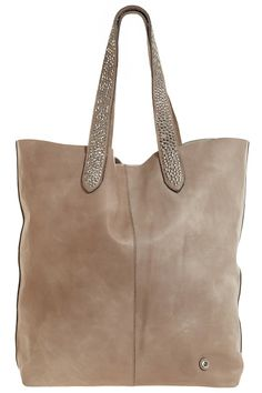 Studded Large Leather Tote @Calypso St. Barth