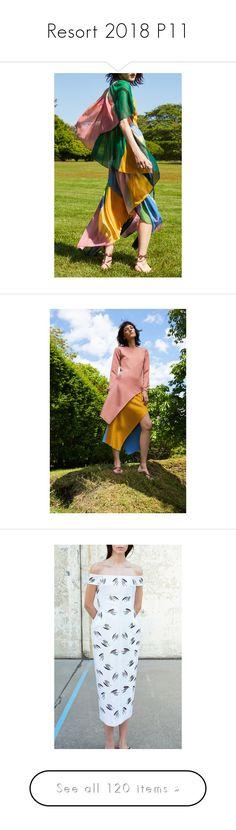 """Resort 2018 P11"" by jckyleeah ❤ liked on Polyvore featuring jonathansimkhai, ROSETTAGETTY, GabrielaHearst, resort2018, jckyleeahresort2018, dresses, silk v neck dress, flounce dress, wrap style dress and v-neck dresses"