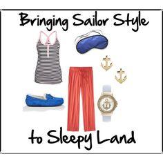 """Bringing Sailor Style toSleepy Land"" by violetforever on Polyvore"