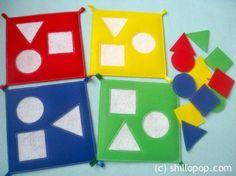shapes quiet book for kıds (6) | funnycrafts