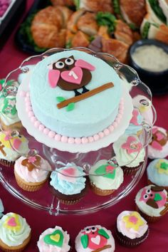 """Look """"whooo"""" turned 1! Laney's birthday party was inspired by a little pink owl in her room that she adores."""