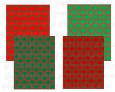 Christmas Moroccan Pattern Digital Paper от GreatGraphics на Etsy