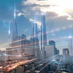 Futuristic City by Vitaly Sokol