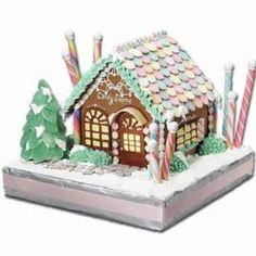 Take everyone back to a simpler time, with this charming Old-Time Candy Shoppe Gingerbread House. Using our Pre-Baked Gingerbread House Kit, the whole family can have fun building and decorating. Surround it with your favorite holiday candies and kick off the most wonderful time of the year!