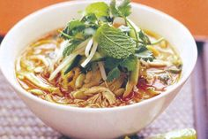 Take soups from starters to the main event with this tasty chicken laksa recipe. It's hearty, tasty and budget-friendly, too.