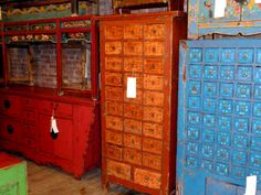 Love apothecary cabinets.  Been wanting one for about a decade...waiting to find the perfect one i can afford...