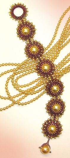 Roberta Peyote Stitch Bracelet Instant Download Pattern by Ann Benson