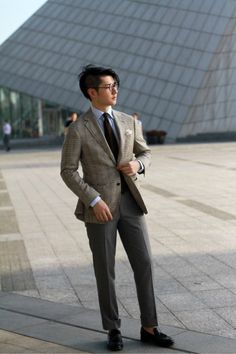 Checked Cashmere suit