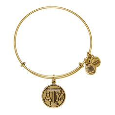 Texas A&M University® Logo Charm Bangle - Rafaelian Gold Finish ($32) ❤ liked on Polyvore featuring jewelry, bracelets, rafaelian gold finish, alex and ani, alex and ani jewelry, heart bangle, logo jewelry and charm bangle