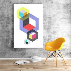 geometric art modern poster geometric print by iloveposter on Etsy