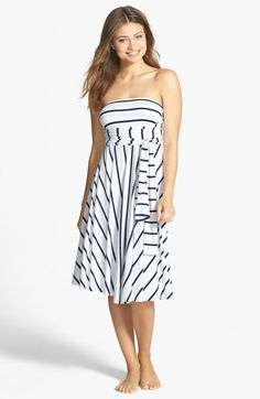 Elan Stripe Convertible Cover-Up Dress available at #Nordstrom