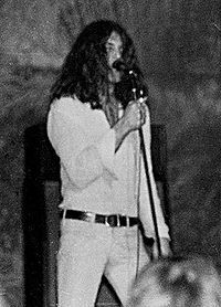 Deep Purple - Vocalist Ian Gillan on stage in Clemson, South Carolina, US, 1972