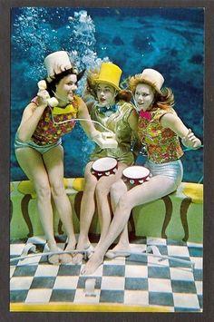 Postcard Weeki Wachee Florida Mermaids in Underwater Dream Girls 1968 | eBay