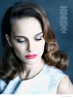 NATALIE PORTMAN CHANNELS CLASSIC HOLLYWOOD BEAUTY IN DIOR FOR ELLE FRANCE