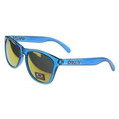 Oakley Frogskin Sunglasses Blue Frame Gold Lens Outlet : Cheap Oakley Sunglasses$18.91