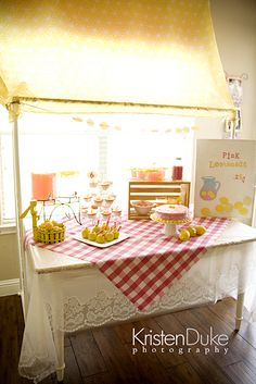 Pink Lemonade Party with Pinkalicious and the Pink Drink.  Great for a girl's birthday party or summer time.  KristenDuke.com