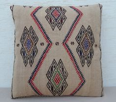 MODERN Bohemian Home Decor Embroidered Handwoven by pillowsstore, $84.00
