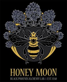 Honey Moon, New Single Notes, New Trading Post Website! Mini Mundo, I Love Bees, Bee Art, Bee Happy, Save The Bees, Bees Knees, Queen Bees, Bee Keeping, Illustrations