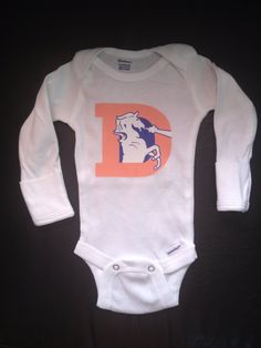 Throwback Denver Bronco onesie infant by BrooklynBabyBoutique 22883d7c3