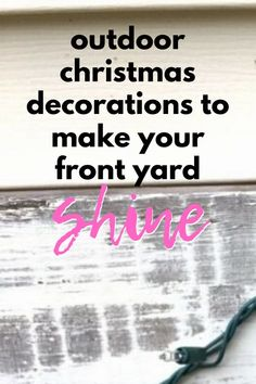 Make your neighbors smile and spread Holiday cheer this winter with these creative and impressive DIY outdoor Christmas decorations on a budget. Decorate your yard with more than just Christmas lights with these gorgeous holiday decorations ideas. Christmas Tree Lots, Outdoor Christmas Decorations, All Things Christmas, Christmas Lights, Christmas Crafts, Winter Ideas, Holiday Ideas, Christmas Ideas, Old Lights