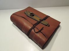 Handmade Leather Bound Journal Vintage by MgDesignSecondWind