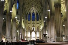 St. Patrick's Cathedral is located at the 5th avenue in New York City. It is the biggest church in the United States. The Gothic Catholic church is where the archbishop of New York holds its seat