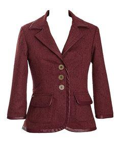 Love this Cinnamon Needles & Pins Wool-Blend Blazer by Nick & Mo on #zulily! #zulilyfinds