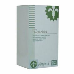 TOOTHPICK MINT PAPER WRAP, CS 12/1000, 04-0519 WESCO ENTERPRISES PICKS AND MARKERS by WESCO. $32.61. Case of 12. *  Selected white birch ~   *  Machine packed. Save 29%!