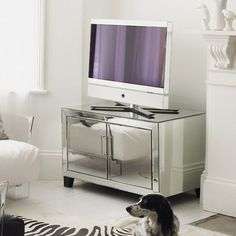 Mirrored Cabinet Perfect For The Tv In My Bedroom