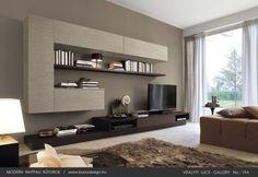 Taupe modern olasz nappali szekrények
