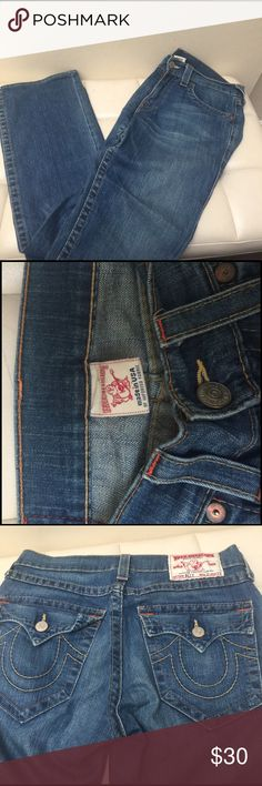 True Religion Blue Jeans Super soft and comfortable😊 True Religion Jeans Boot Cut