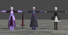 Original bones name. - Someone don't want share me this costumes of Saber, so I ported them by myself . August Taylor, Alters, Coding, Costumes, 3d, Women, Dress Up Clothes, Fancy Dress, Programming