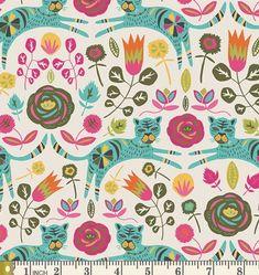 18e5d5f6d2e HALF YARD KNIT fabric, Tigris Lollipop, Tallinn Collection, Art Gallery  Knits, Cotton Spandex Knit, Floral Jersey Knit Fabric, K-75300